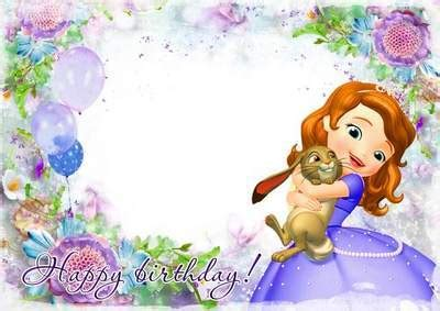 Princess Sofia Birthday Card Template by Princess Sofia Wallpaper Impremedia Net