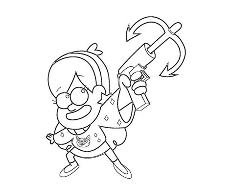 free coloring pages of gravity falls mabel