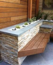 cladding with timber bench outdoor diy