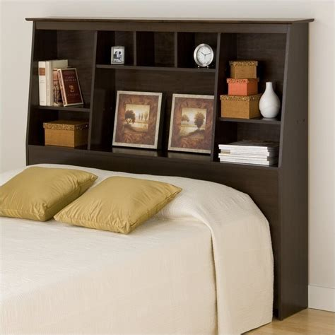 tall headboard queen slant back tall full queen bookcase headboard in espresso