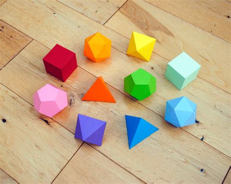 3d Origami Geometric Shapes - i mathematics platonic solids garland minieco