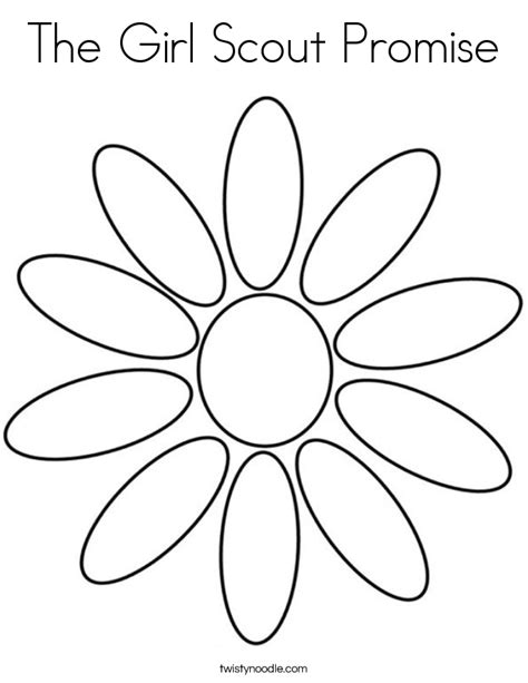 The Girl Scout Promise Coloring Page Twisty Noodle Scout Promise Coloring Pages Daisies Printable