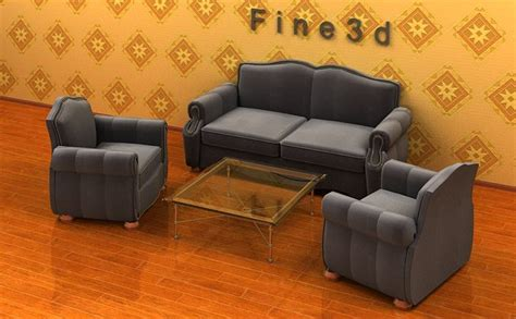 comfortable living room furniture sets comfortable living room set collection 3d model cgtrader