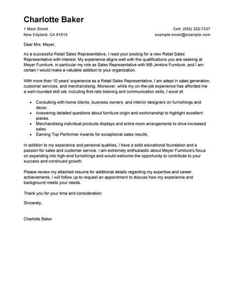 sales representative cover letter job tech rep consultant sample