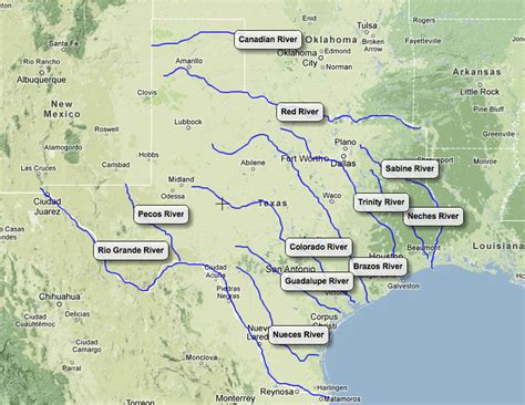 texas landform map rivers landforms of texas texas and its