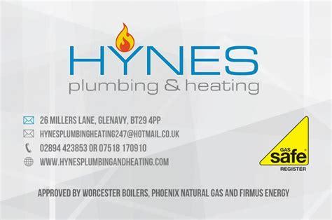 Plumbing And Heating Business Cards by Hynes Plumbing Heating Plumber In Glenavy Crumlin Uk