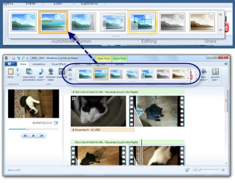 windows live movie maker is a video editing tool that
