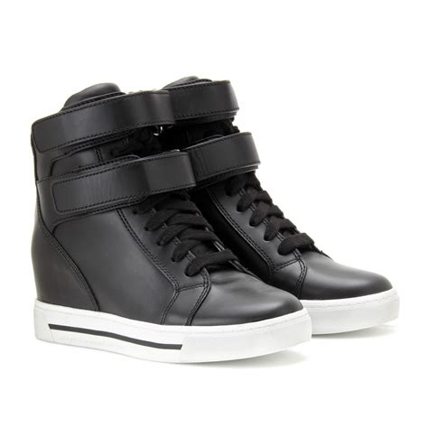 high top wedge sneakers lyst marc by marc leather hightop wedge sneakers