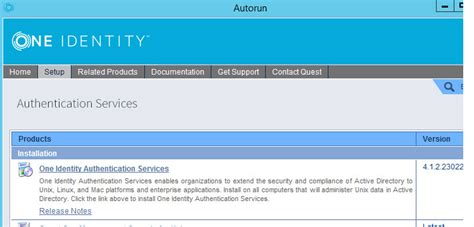 bca unable to authenticate your identity unable to install quest authentication services