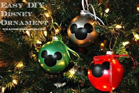 easy diy disney ornaments  cook  smiles