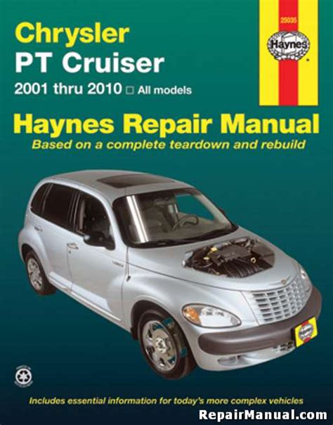 chrysler pt cruiser automotive repair manual 2001 2010 pt cruiser service manual haynes 2001 2010