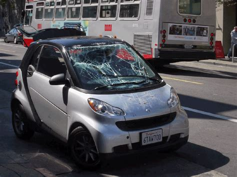 tipped smart cars 3d photograph of a tipped smart car 171 mission mission