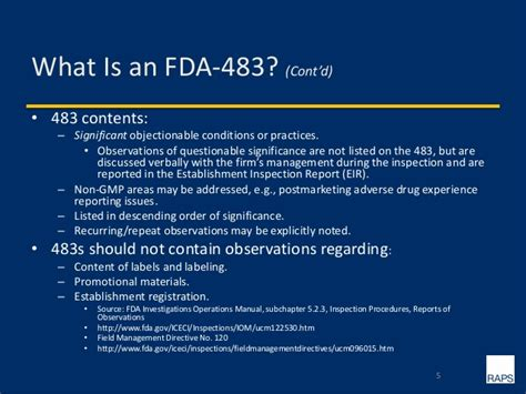 responding effectively to fda 483 observations warning