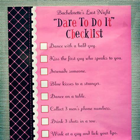 printable bachelorette to do list dare night list autos post
