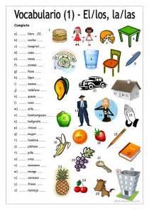 69 gratuito ele vocabulario hojas de trabajo