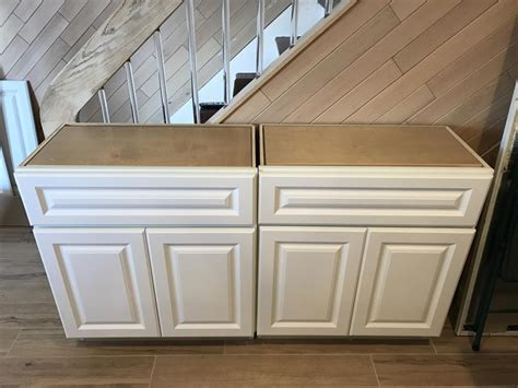 White Custom Depth Kitchen Base Cabinets Manhattan Reefs