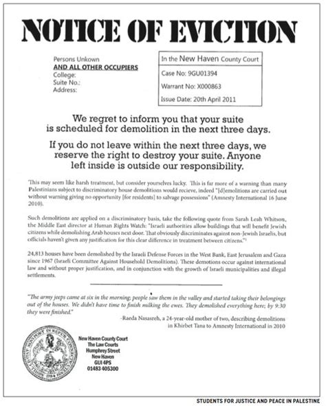 tex document template printable sle eviction notice form real estate