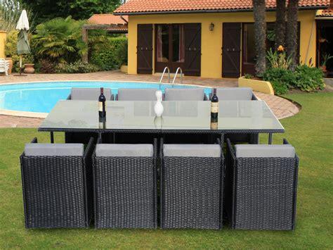 table de jardin resine tressee 8 places salon de jardin tresse gris 10 places qaland