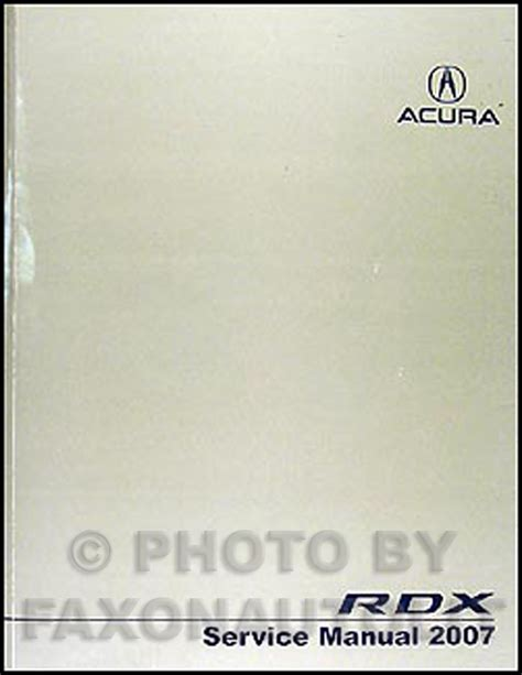 2007 acura rdx repair shop manual original