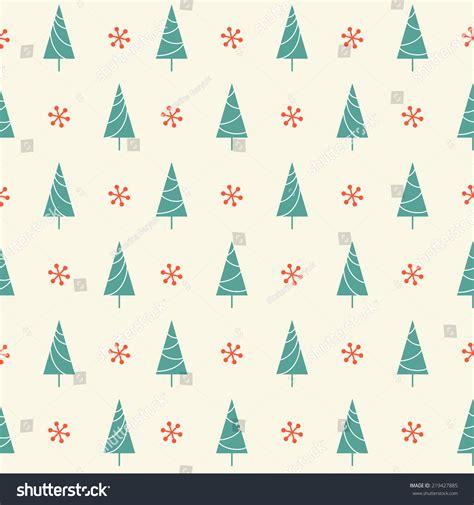winter tree snowflakes stock vector seamless pattern tree snowflake winter stock vector 219427885