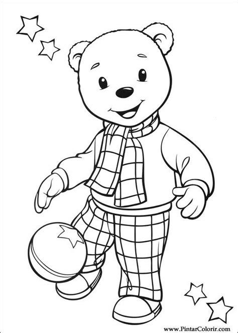 rupert bear coloring pages desenhos para pintar e colorir rupert urso imprimir