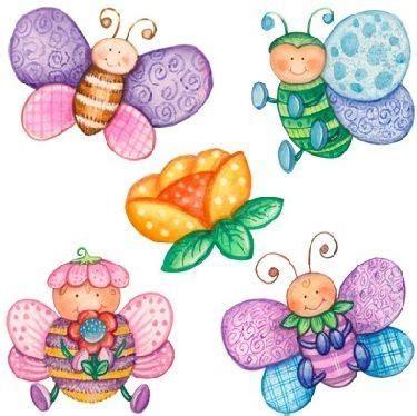 imagenes bonitas infantiles para decorar mariposas para colorear y decorar en primavera