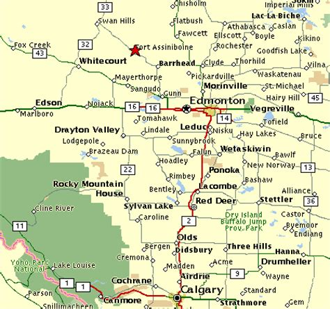 alberta map of towns images