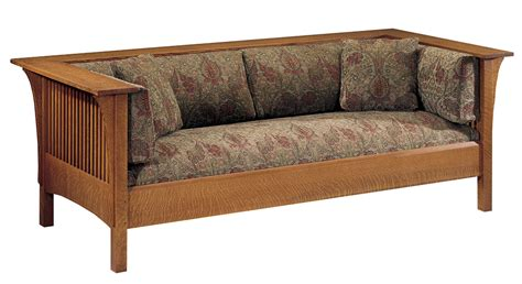 Prairie Style Sofa by Prairie Spindle Settle Mission Collection Stickley Audi