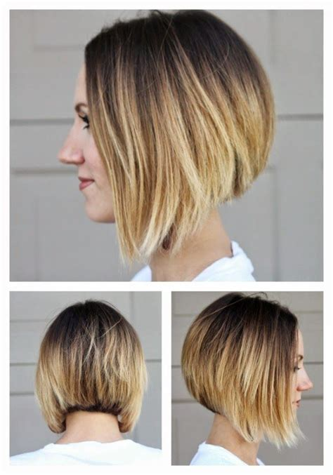 angled bob colored hair short angled ombre bob from all sides lovely locks