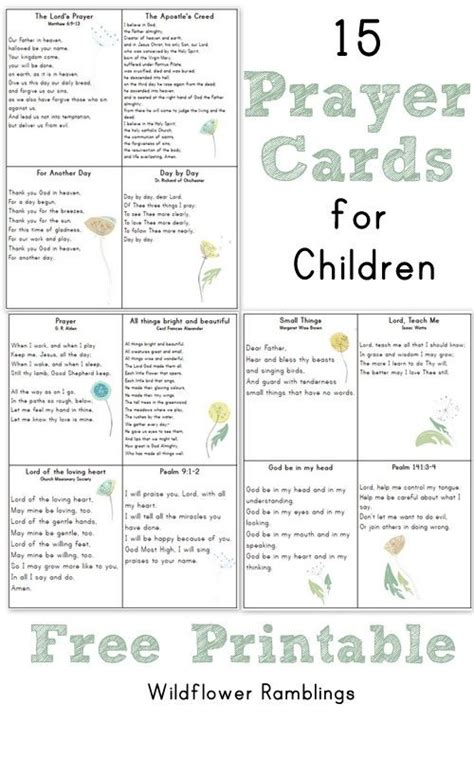 catholic prayer card templates prayer cards for children free printable sunday school