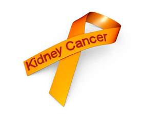 kidney cancer ribbon color 0914 orange ribbon for kidney cancer awareness stock photo