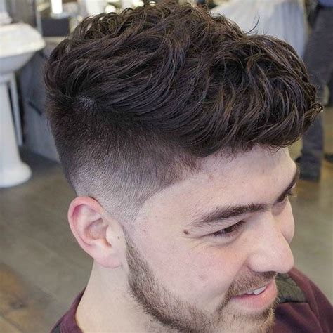 taper fade curly hair short hairstyles for men taper fade beautiful and wavy hair