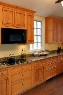 Home Decorating Dilemmas Knotty Pine Kitchen Cabinets Knotty Pine Cabinets Granite Counter Top Traditional Kitchen Dc Metro By Heritage