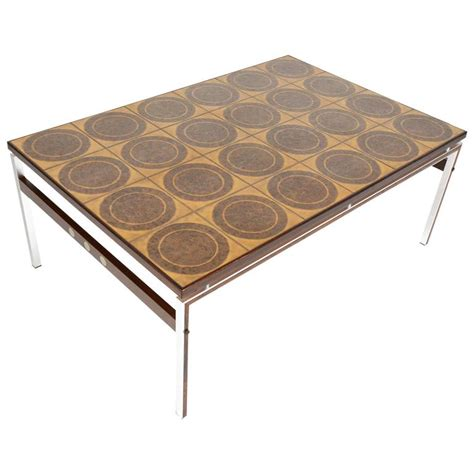 modern ceramic tile and rosewood coffee table for