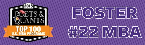 Foster Mba by Foster Ranks 22 Of Top 100 Mba Programs According To