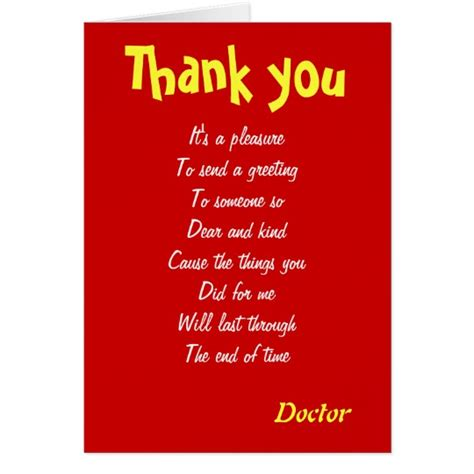 thank you letter to doctor baby doctor thank you cards zazzle