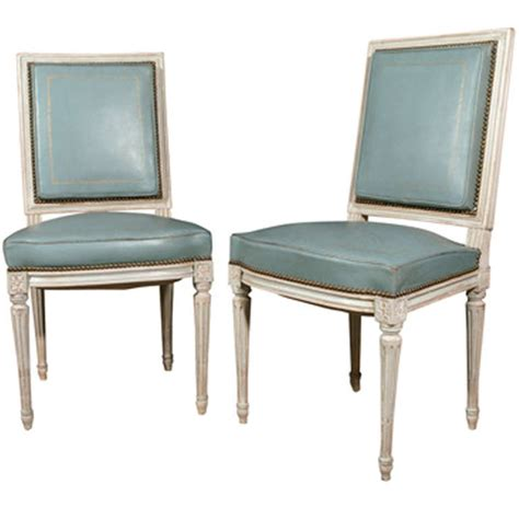 a pair of louis xvi style dining chairs at 1stdibs