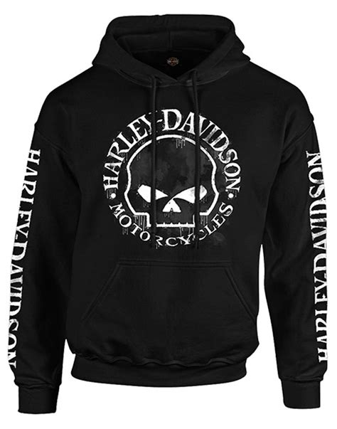 Sweater Hodie Harley Davidson 3 harley davidson s made willie g skull pullover hooded sweatshirt black ebay