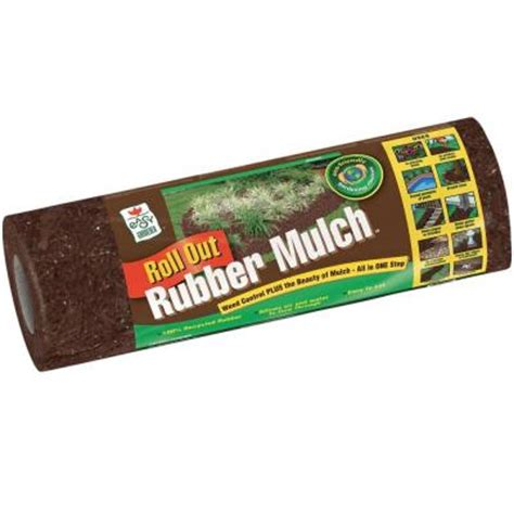 Rubber Mulch Roll Home Depot easy gardener 12 sq ft roll out brown rubber mulch