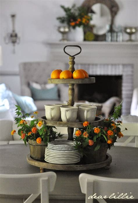 How To Decorate Your Kitchen Island Tiered Trays On Pinterest Tiered Stand Galvanized Metal