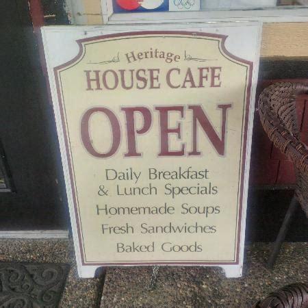 heritage house menu heritage house cafe agassiz menu board picture of
