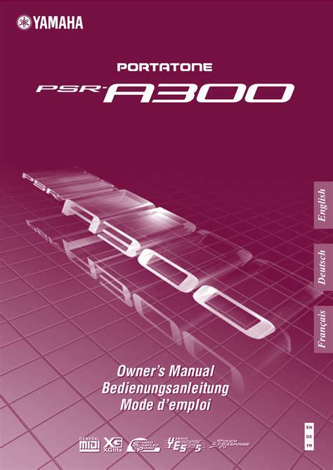 Keyboard Yamaha Psr A300 free pdf for yamaha psr a300 keyboard manual