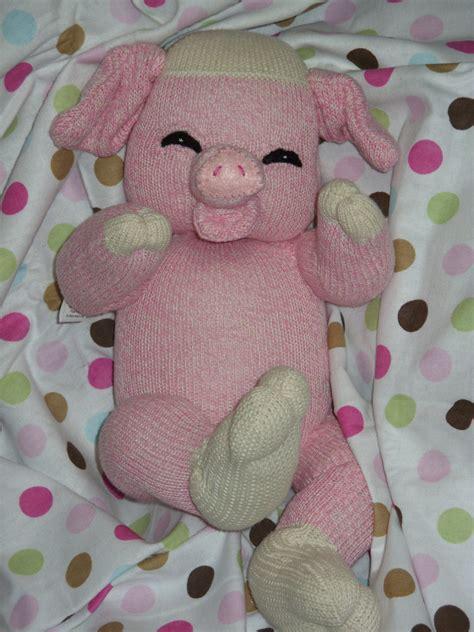 make sock animals patterns pdf pattern with supplies baby sock pig