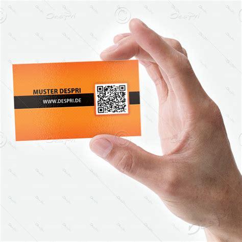 Visitenkarten Mit Qr Code Drucken by Business Visitenkarten Design Vk012 Mit Qr Code F 252 R