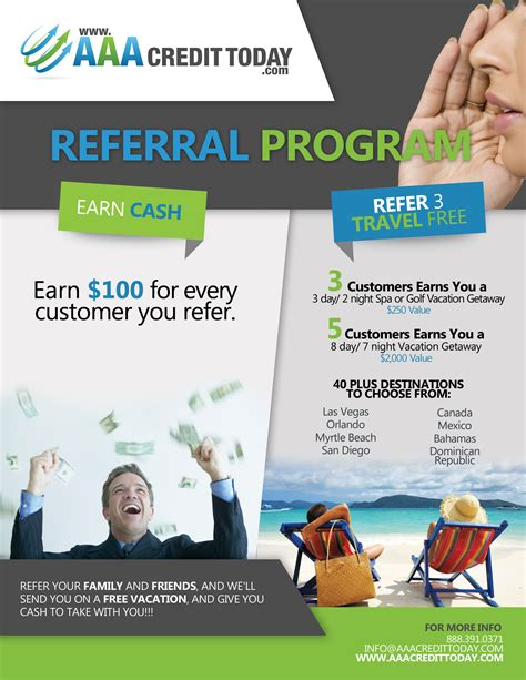 Referral Program Aaa Credit Today Referral Program Flyer Template