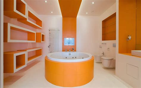 Modern Orange Bathroom Accessories 10 Modern Bathroom Designs And Ideas In Orange Color