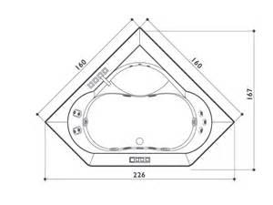 2 seater corner whirlpool bathtub aura corner 160 by