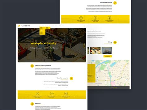 free website construction template construction website template freebie photoshop
