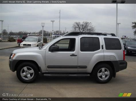 nissan xterra silver 2005 nissan xterra se in silver lightning metallic photo
