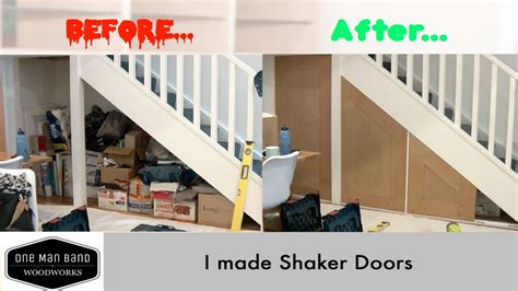 making doors out of mdf making shaker doors in mdf youtube